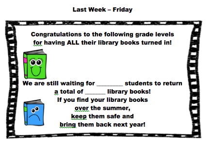 End of the year in the library