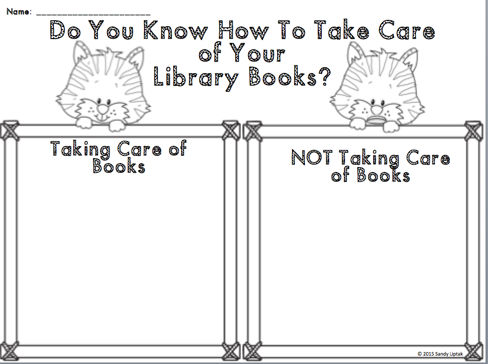 Book Care With First Grade