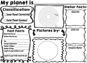 Planet Fast Facts for elementary student research