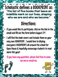 Bookprints - foot theme