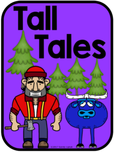 Folktale labels and posters